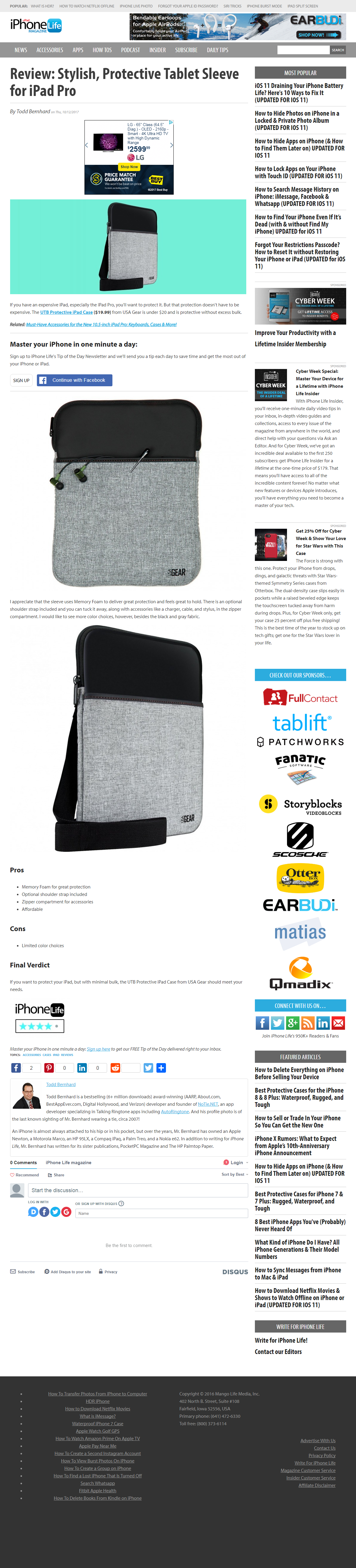 Review: Stylish, Protective Tablet Sleeve for iPad Pro
