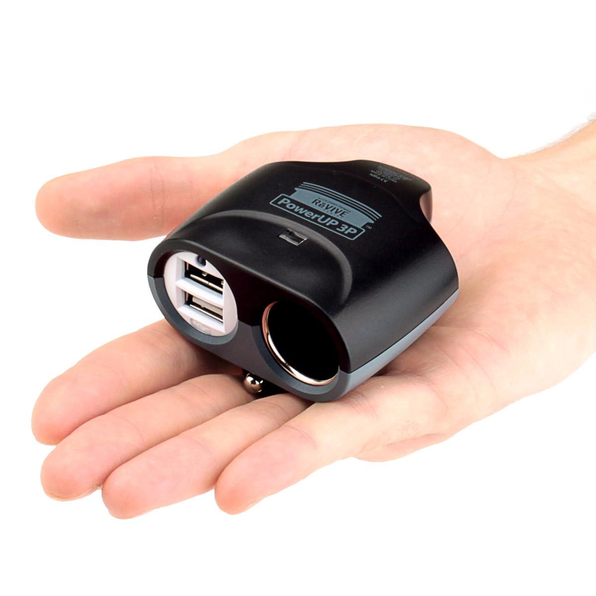 ReVIVE PowerUP 3P Rapid Car Charger + DC Outlet & Dual USB