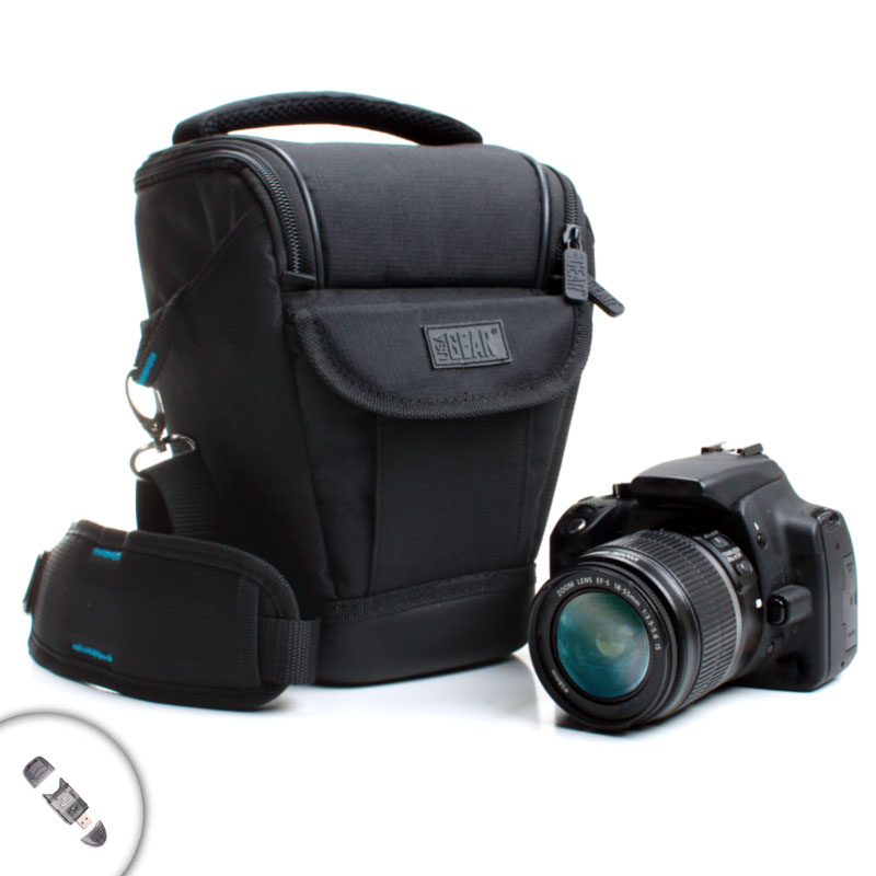 Weather resistant dslr holster carrying case works with for Housse canon 700d