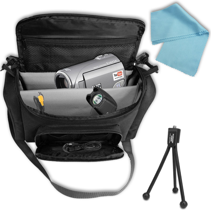 Accessory Genie Portable CAMERA /CAMCORDER Carrying Case for Digimax / GX / HMX / NV/ SC Video Camcorders + Mini Tripod & Cleaning Cloth at Sears.com