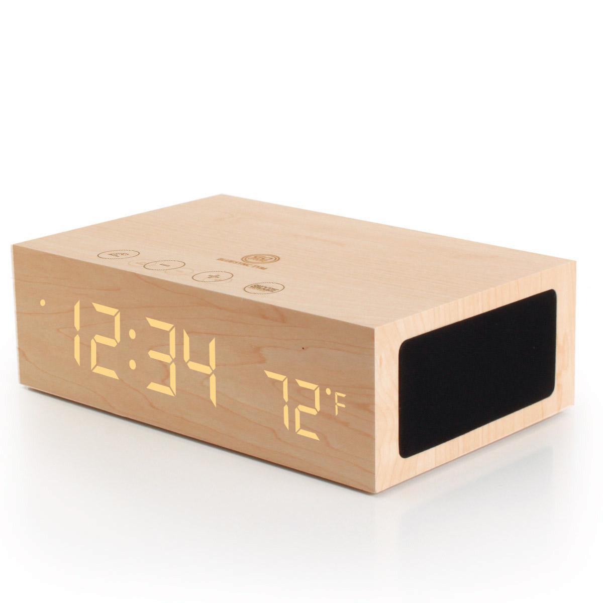 gogroove bluesync tym bluetooth stereo speaker system alarm clock ebay. Black Bedroom Furniture Sets. Home Design Ideas