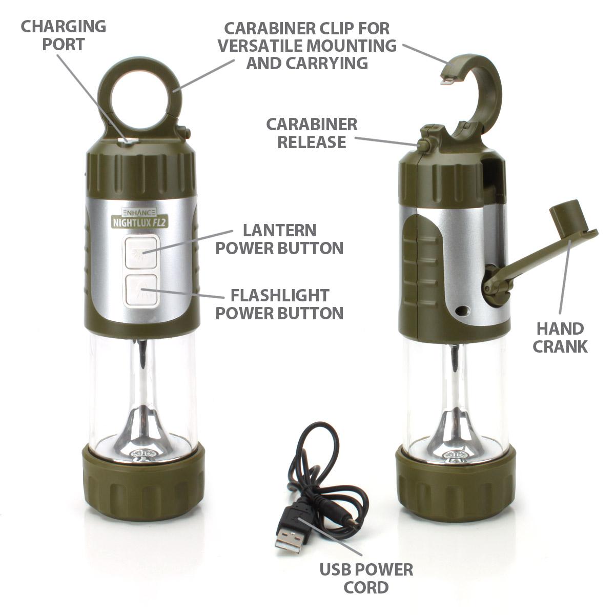3 PACK Portable Hanging Lantern Lamp & LED Flashlight