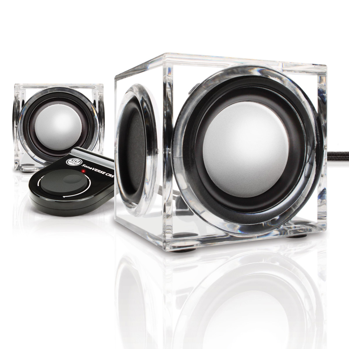 sonaverse crs usb powered 2 0 speakers w clear acrylic housing dual drivers ebay. Black Bedroom Furniture Sets. Home Design Ideas