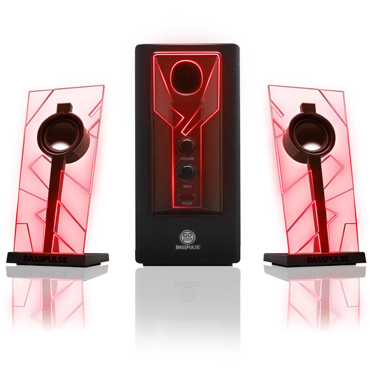 GOgroove BassPULSE Computer Speaker Sound System with