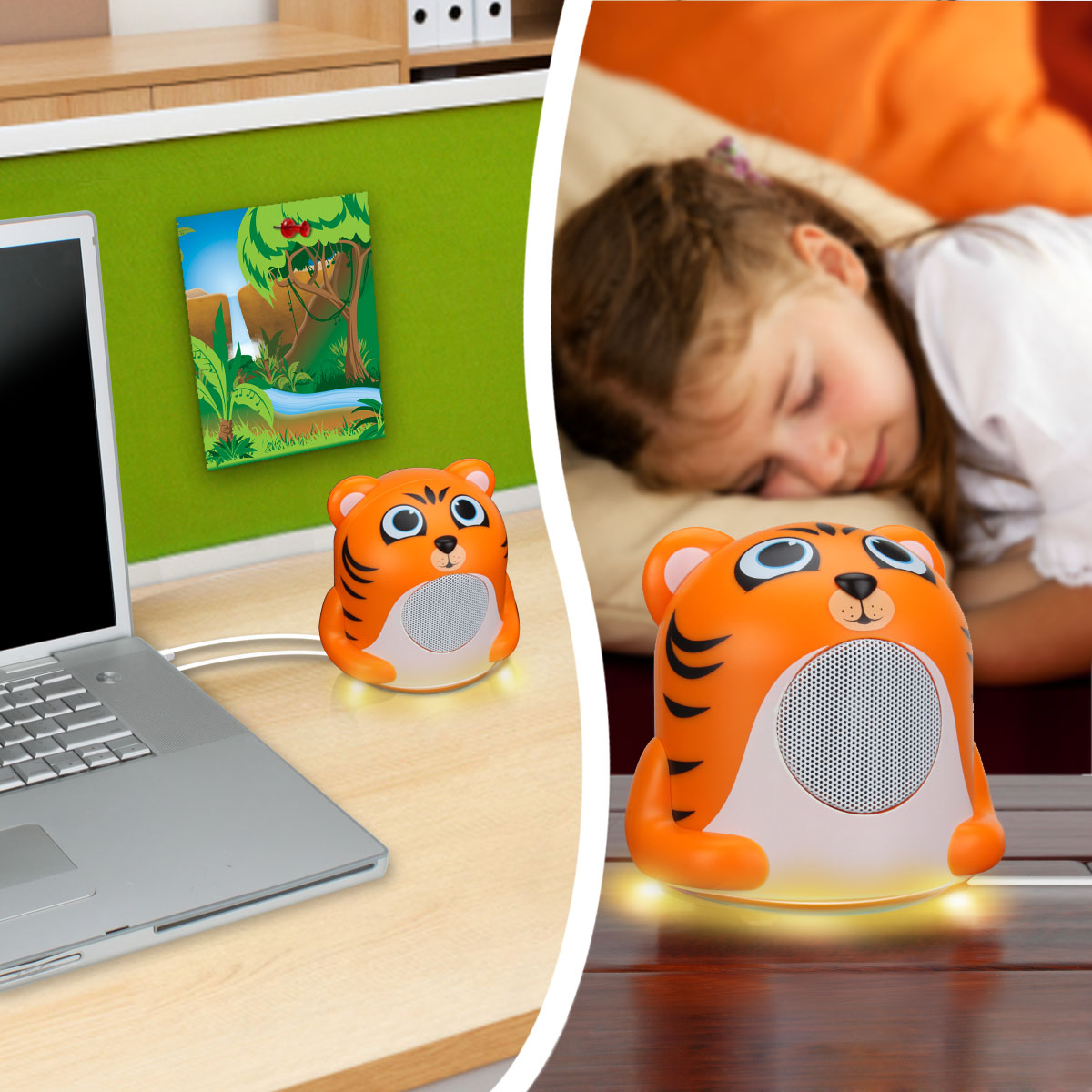 Gogroove Ferocious Bass Children S Tablet Tiger Speaker