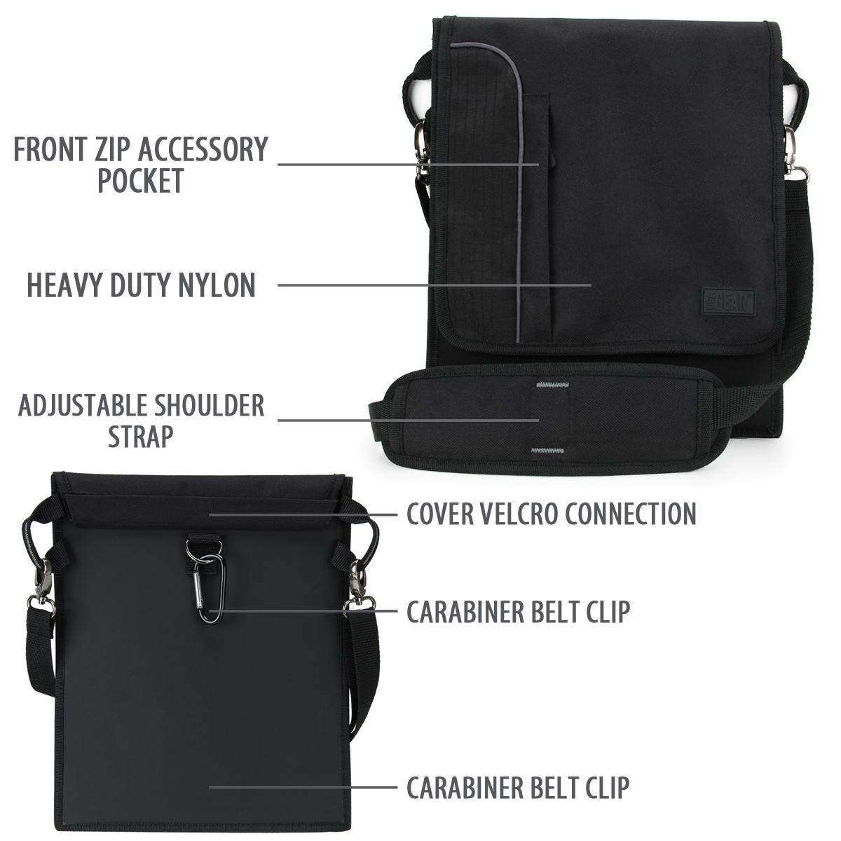 Professional Shoulder Sling Tablet Case Messenger Bag By Usa Gear With Carrying Adjule Strap Black Material Perfect For The Dell Laude 5285