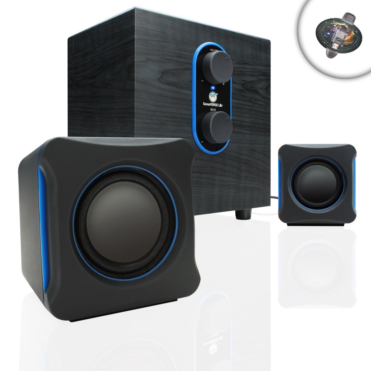 gaming computer speaker system w usb power subwoofer