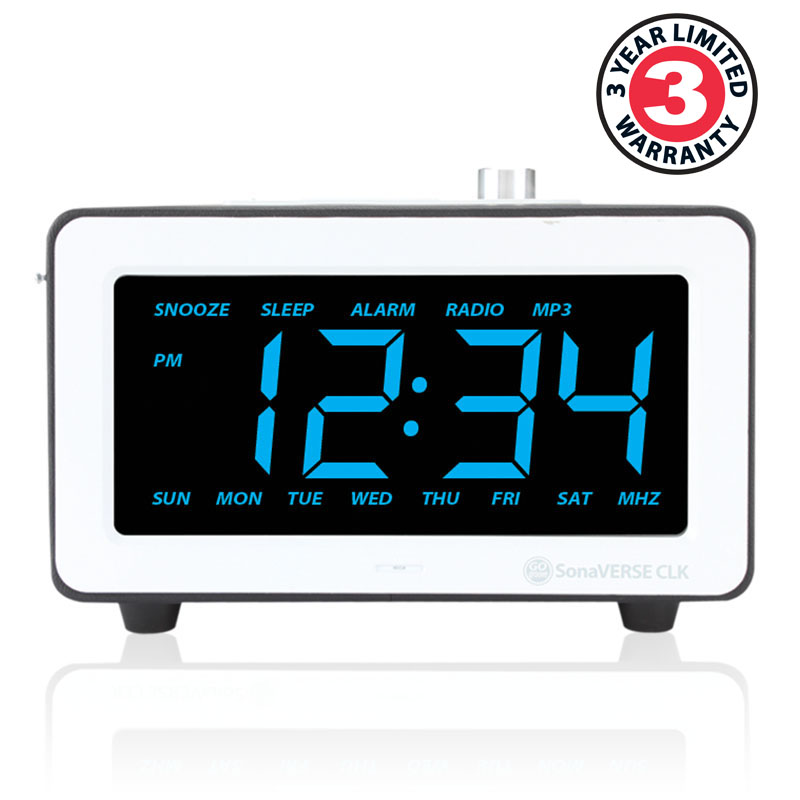 sonaverse clk alarm clock speaker system w large bright 7 5 inch led display ebay. Black Bedroom Furniture Sets. Home Design Ideas