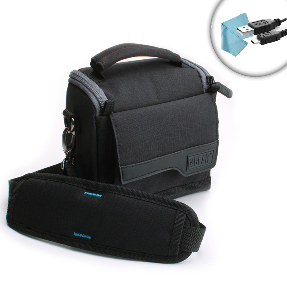 Camera Travel Pouch : Usa gear compact travel bag camera case for misc canon