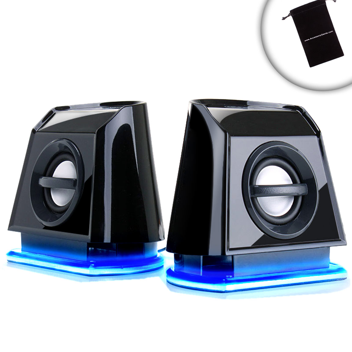 gogroove basspulse 2mx portable laptop speakers with plug. Black Bedroom Furniture Sets. Home Design Ideas