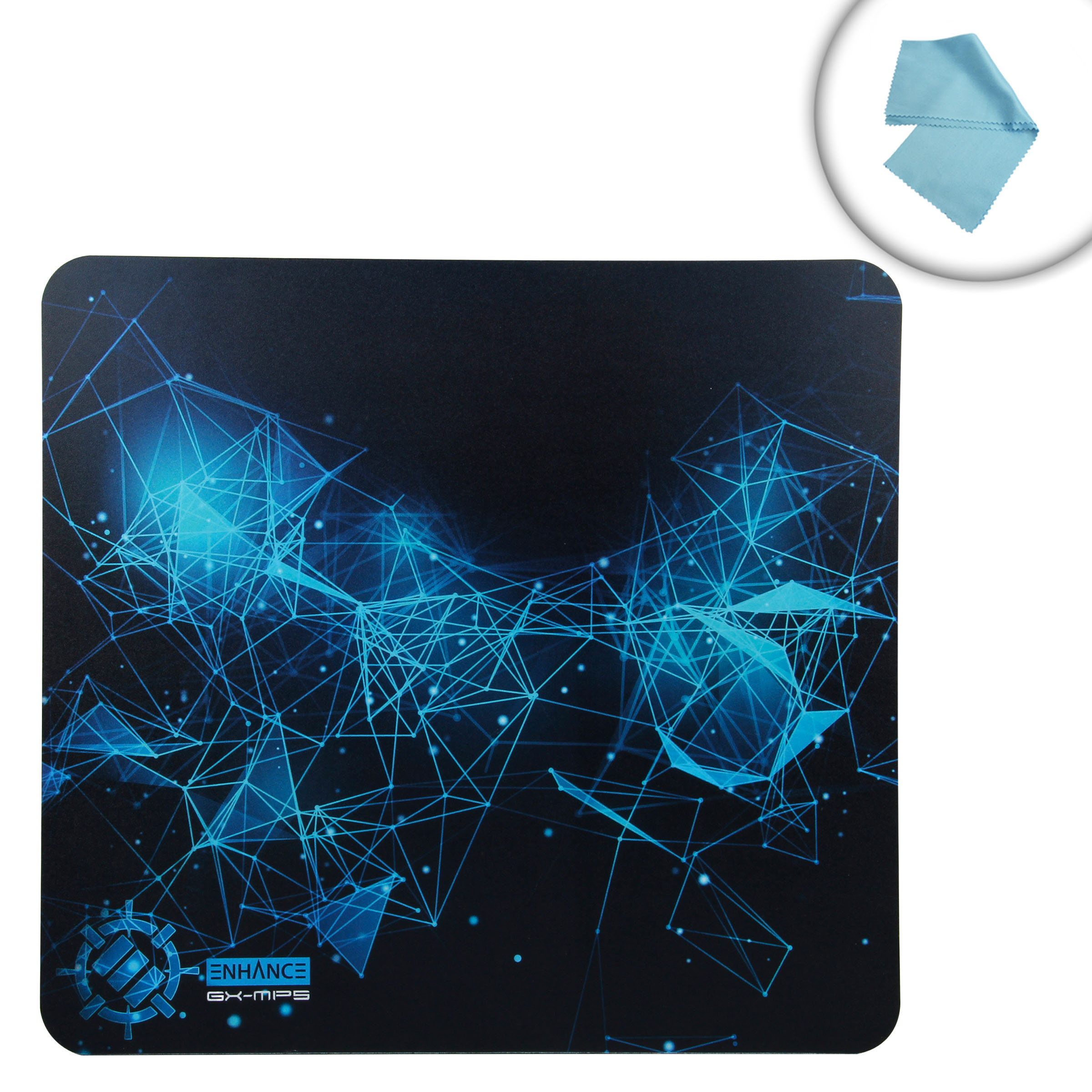 Hard Gaming Mouse Pad With Abs Plastic Surface Non Slip Rubber E Blue Value Pack 637836589364