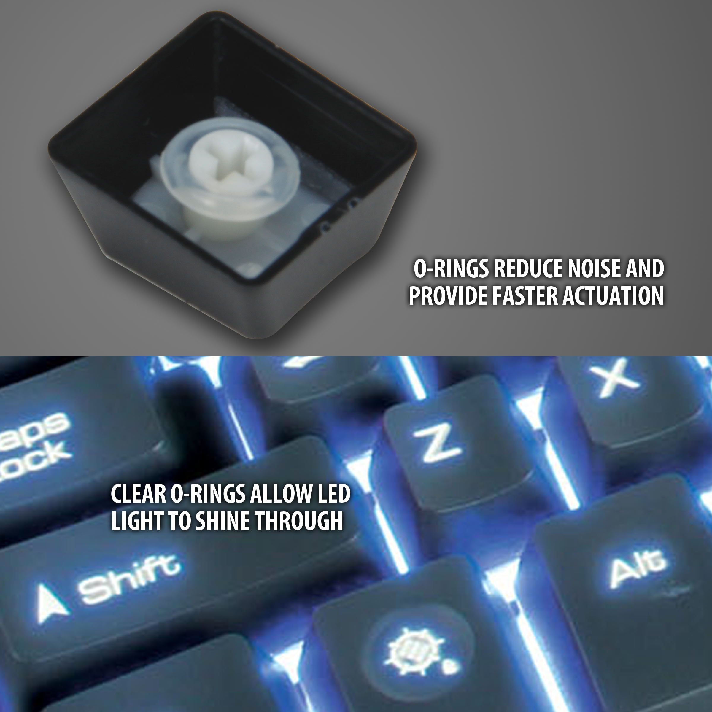 Details about Mechanical Keyboard Modification Kit w/ O-Ring Switch  Dampeners & Keycap Puller