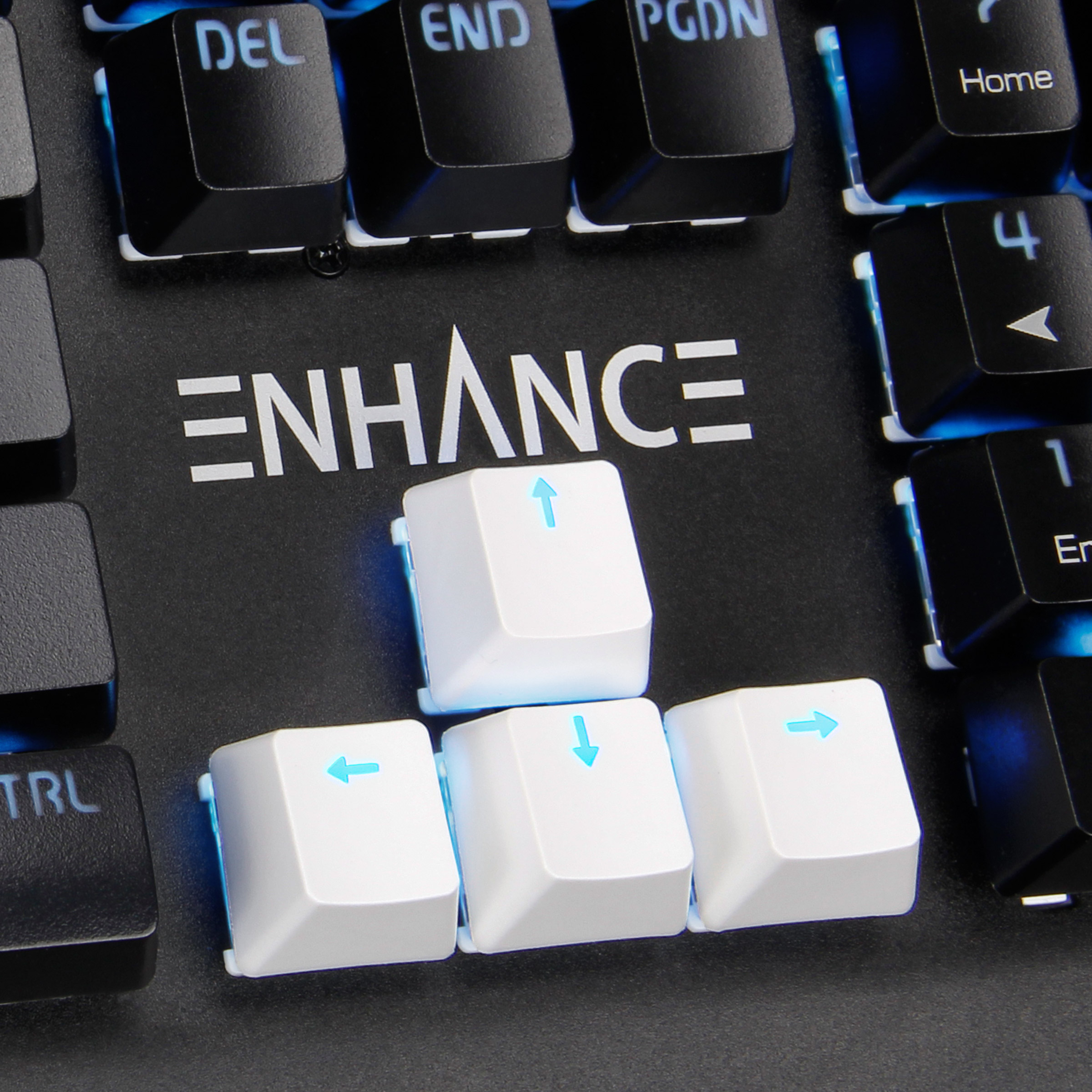61d8c37f9f0 ENHANCE Gaming Keyboard Keycaps Set FPS Upgrade Kit - 9 PBT Clear  Translucent Backlight Key Caps for Cherry MX Mechanical Keyboards -  Includes Keycap Puller ...