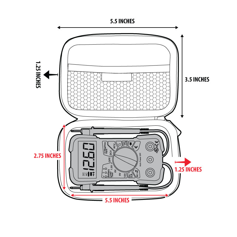 protective case for innova 3320 digital multimeter with hard shell exterior