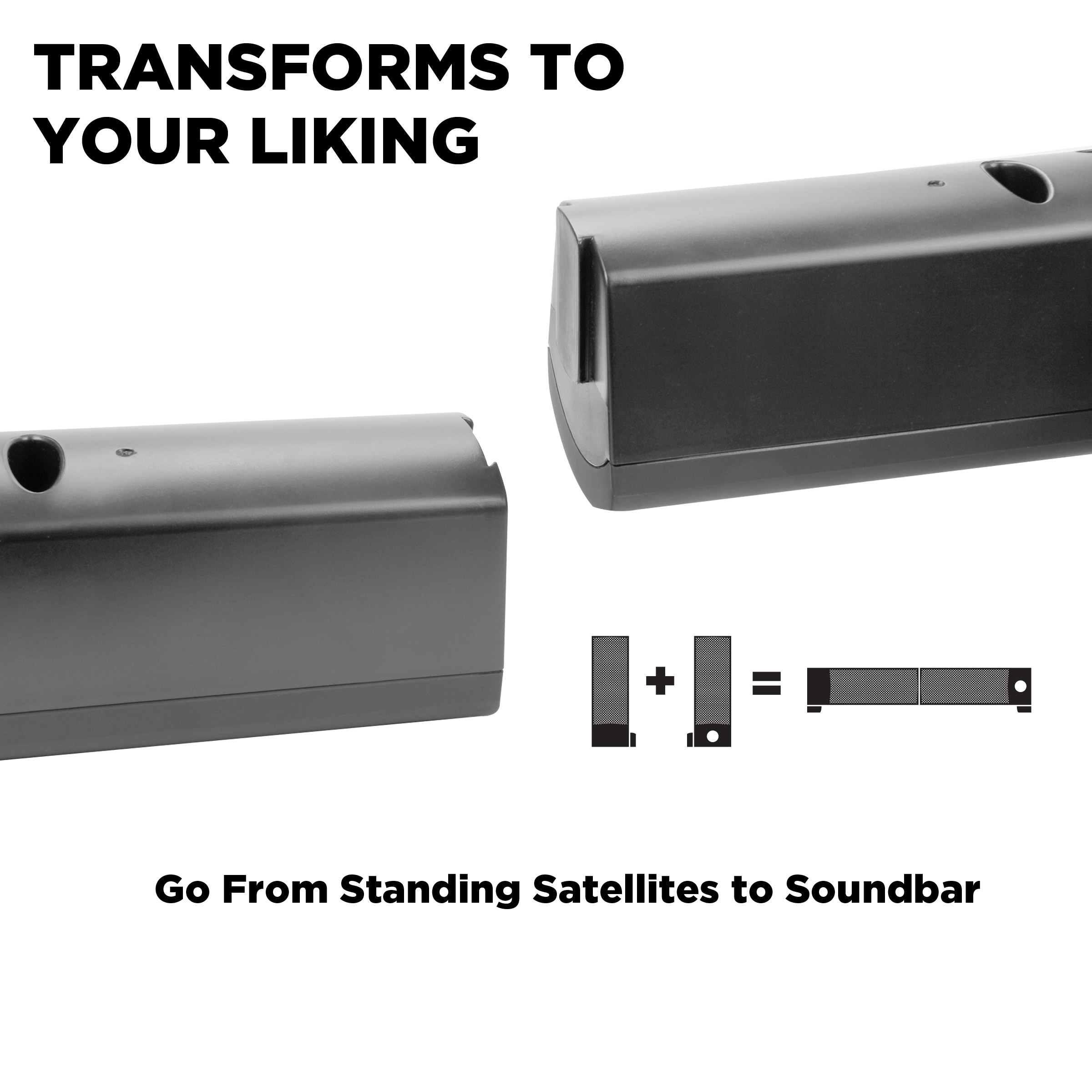 Usb Powered 21 Computer Speaker Sound Bar And Wired Subwoofer Difference Between Series Parallel Wiring Subwoofers Gogroove Blackout Sonaverse Utr Pc Soundbar With 22w Peak Power Aux Input