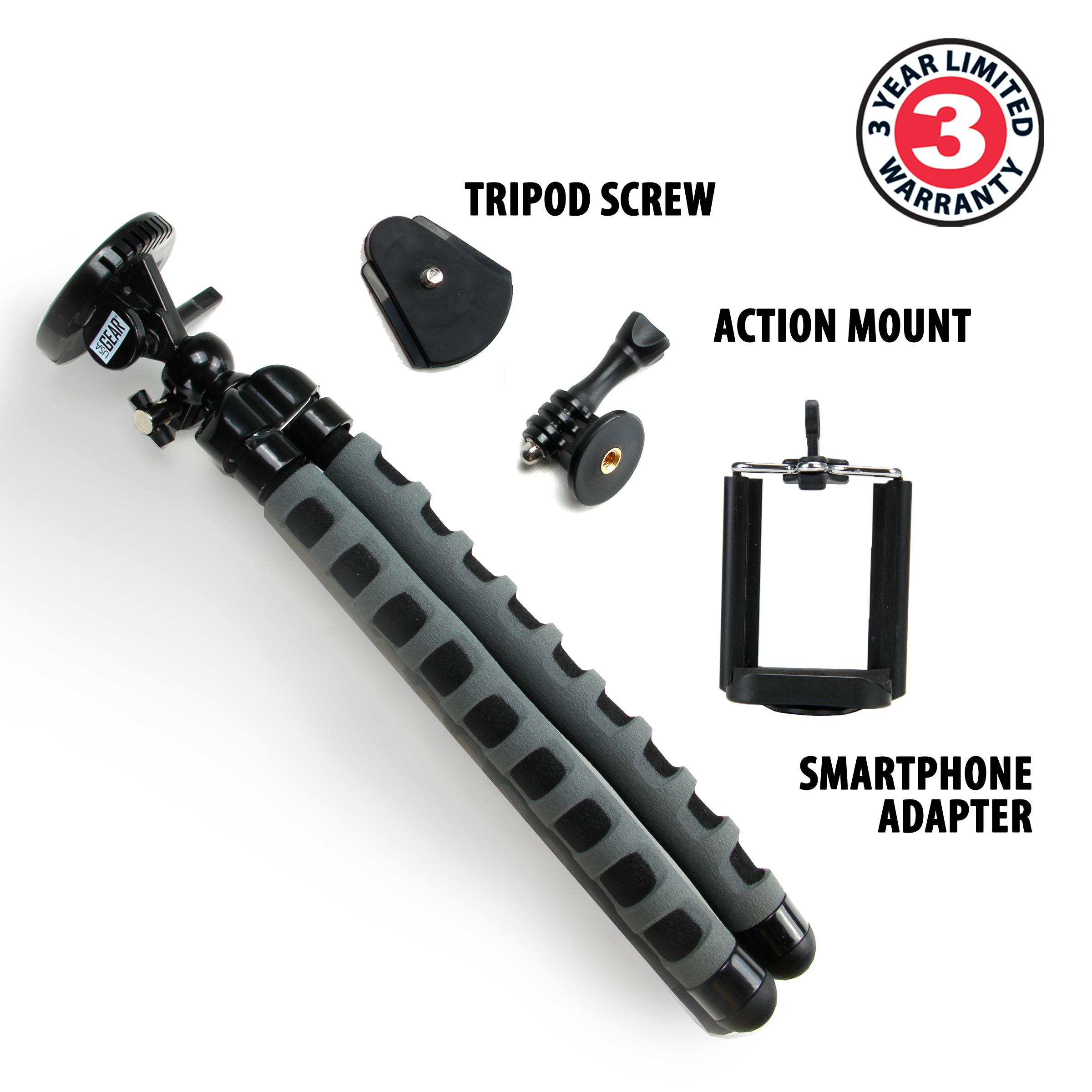 Flexible Tripod w/ 360° Rotating Mount & Smartphone ...