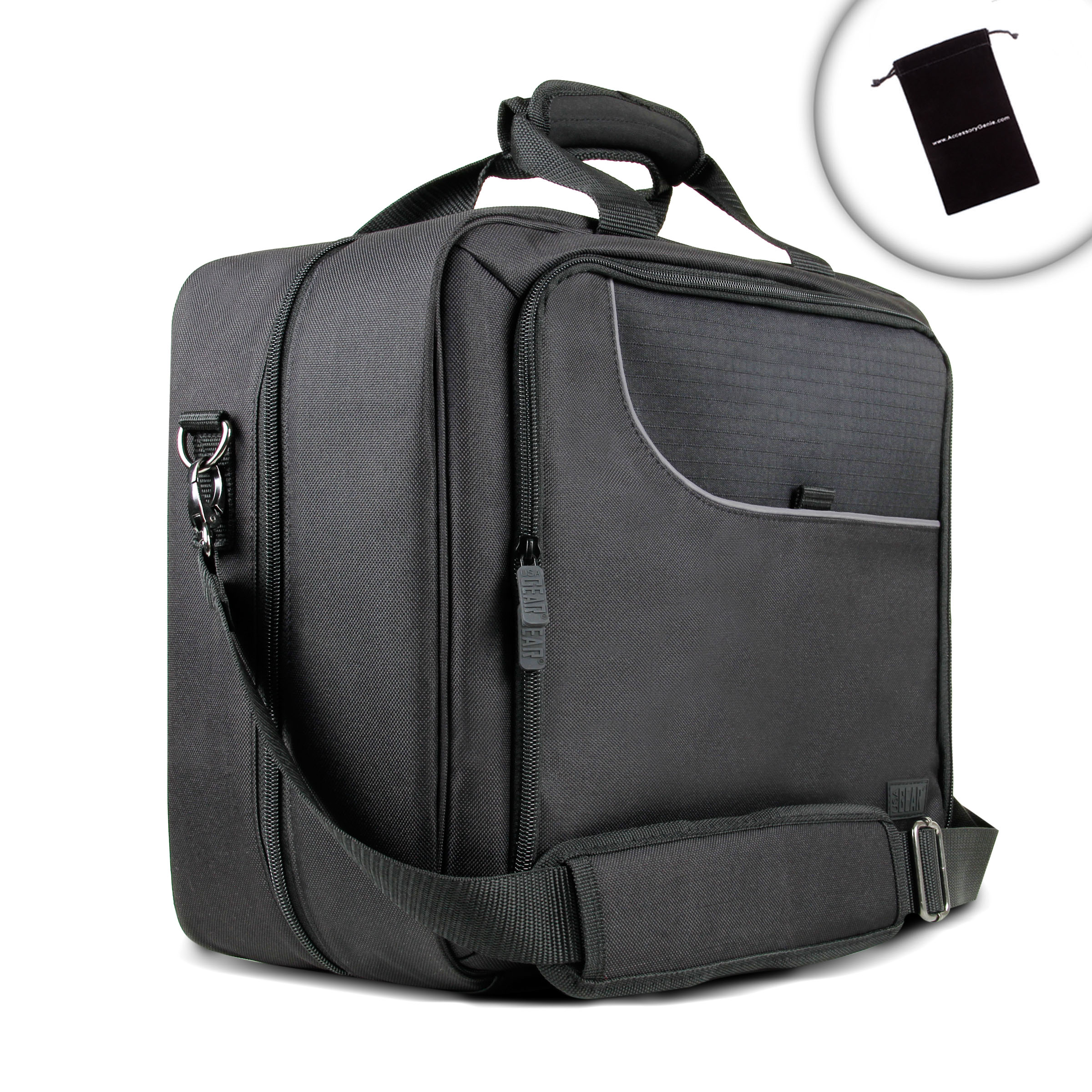 Projector bag with padded storage compartments shoulder for Pocket projector case