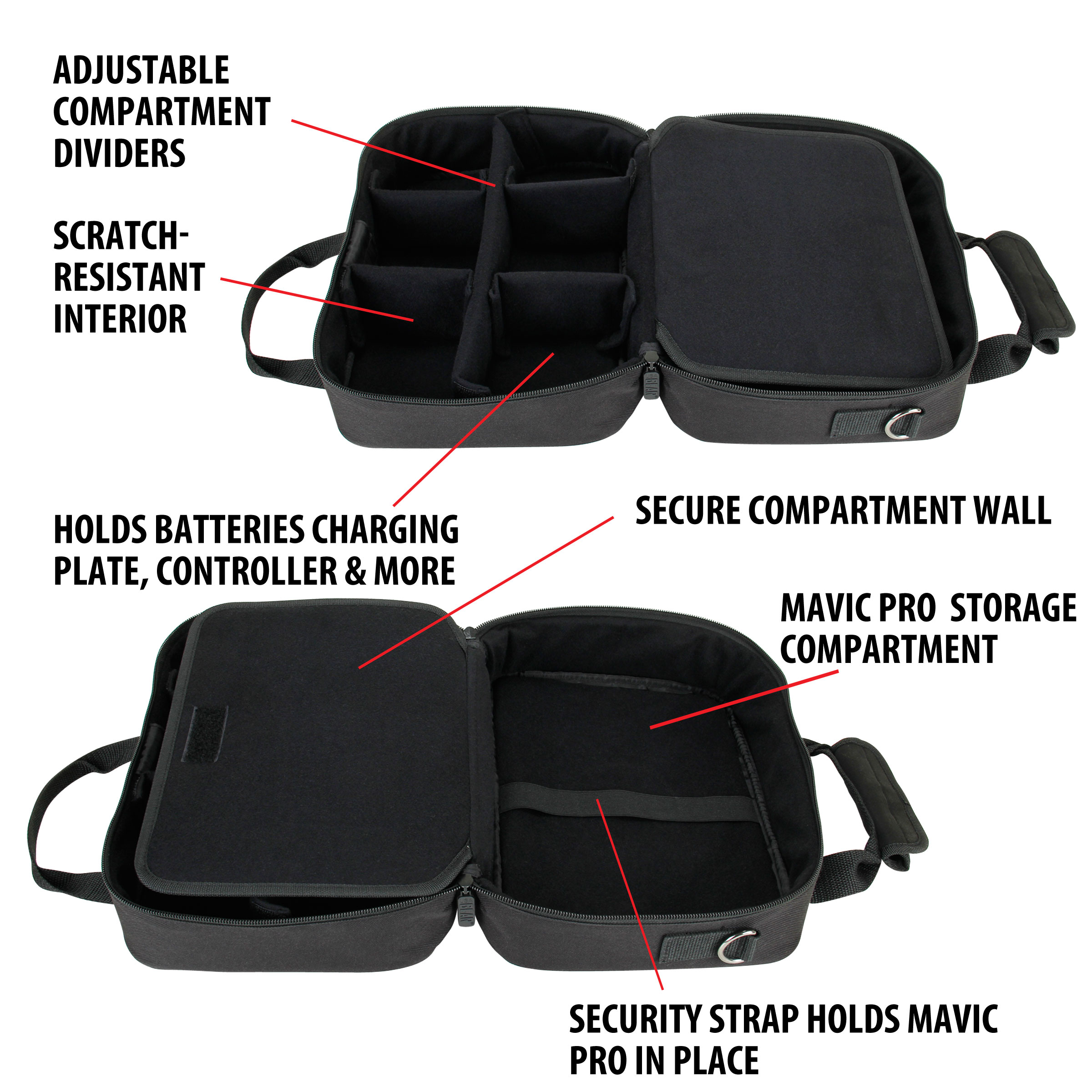 USA Gear Pet Grooming Bag - Dog   Cat Groomer Supply Case with ... 541dc4bb7b591