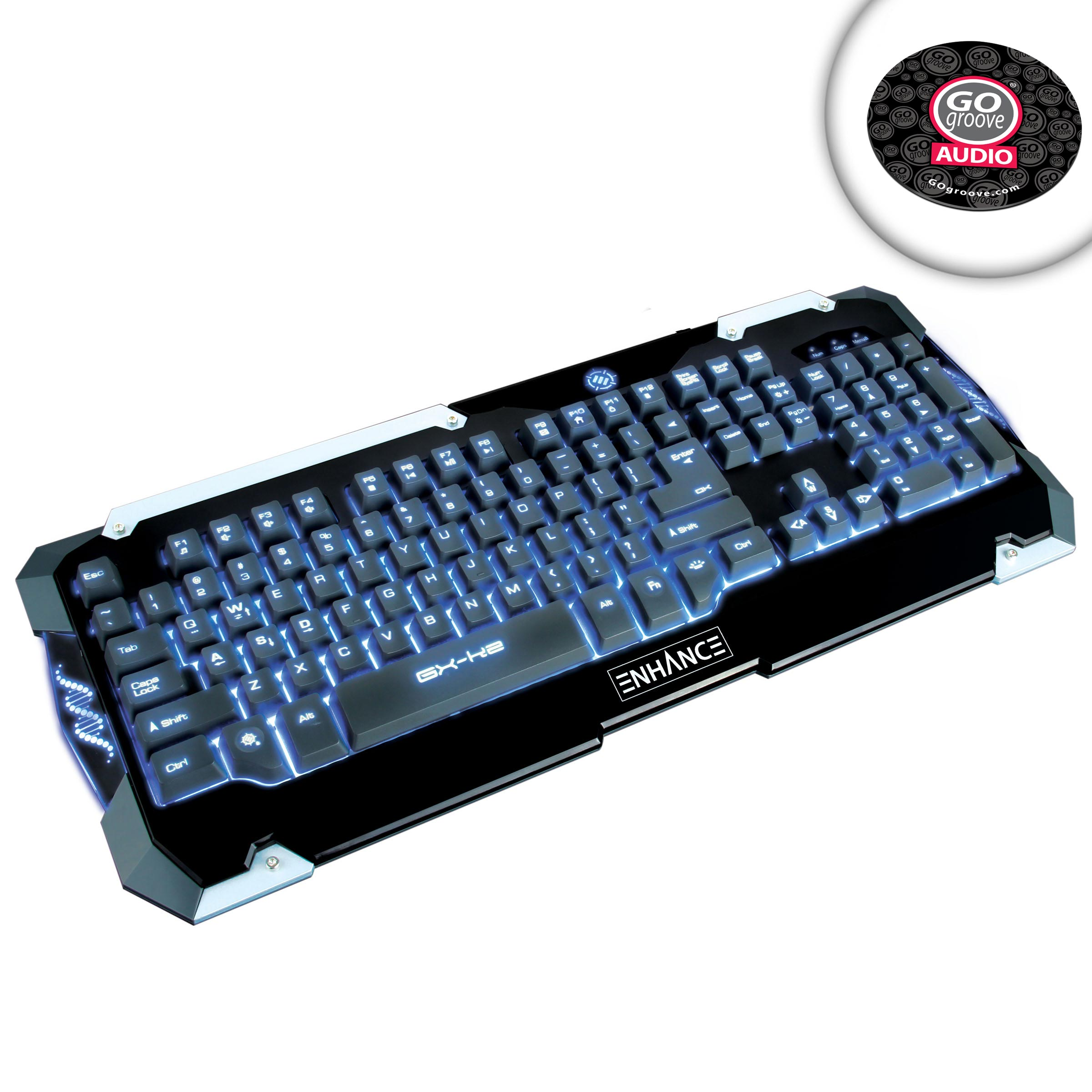 led gaming keyboard with hybrid switches multimedia hotkeys color backlights ebay. Black Bedroom Furniture Sets. Home Design Ideas