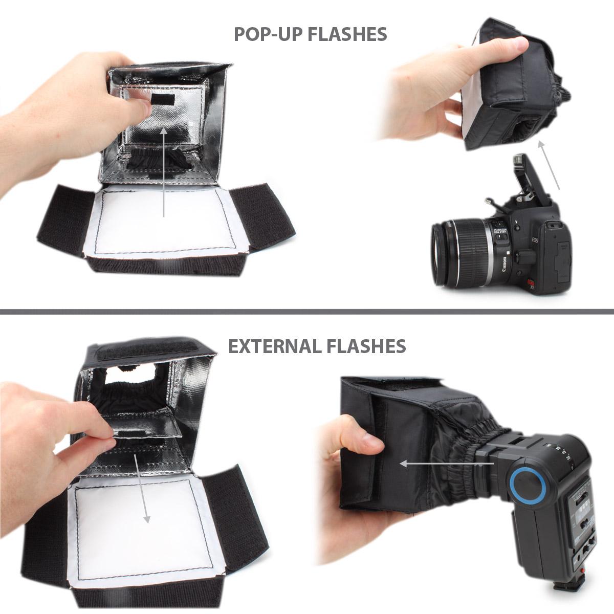 Dslr Flash Deflector Enhance Soft Box Dslr Flash
