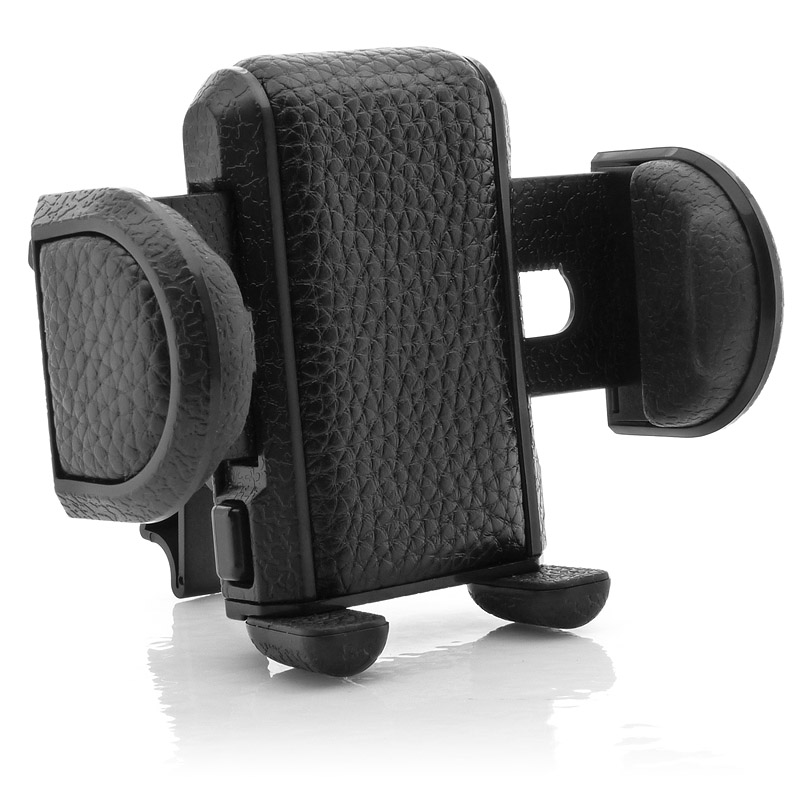 USA Gear Air Vent Universal Car Mount Holder Cradle with Rotating Neck , Adjustable Arms & Secure Clips for Smartphones